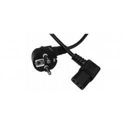 Kabel zasilający komputerowy kątowy 1,8m
