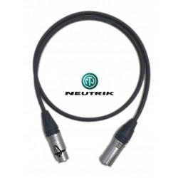 Przewód KABEL mikrofonowy XLR-XLR srebrne wtyki NEUTRIK
